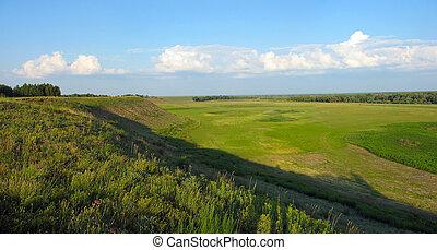Summer landscape - water-meadow