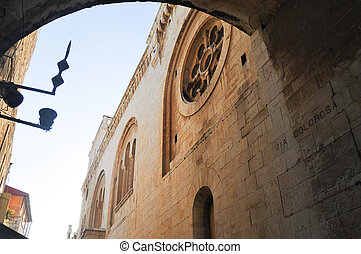 Via Dolorosa - Church along the path of the Via Dolorosa in...