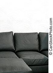 Soft black sofa