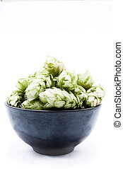 Humulus on an isolated background - Humulus, Humulus poured...