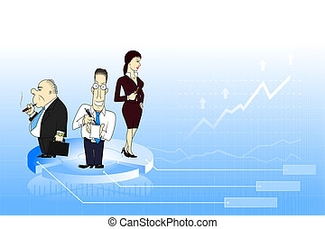 Business team background - Blue business background with...