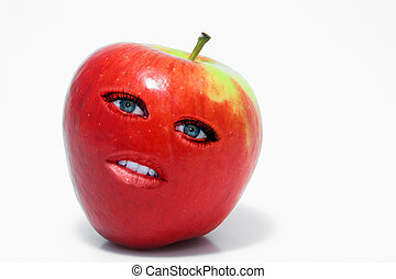 Red Delicious Apple Woman - Beautiful whole female red...
