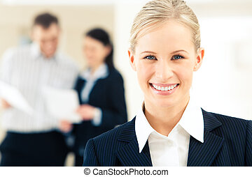 Beautiful woman - Face of successful business woman looking...