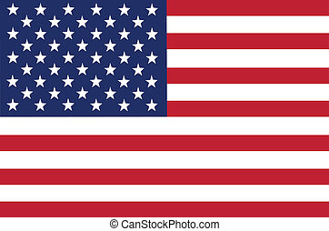 Flag of USA vector illustration