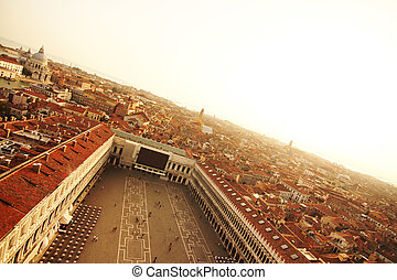 View over Venice - View over Venice, Italy, Europe.