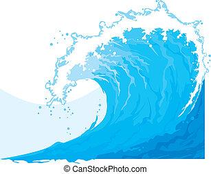 morze, machać, (ocean, wave)