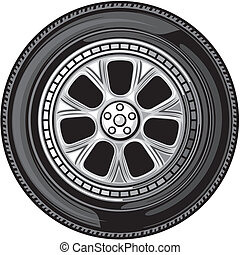 wheel vector tyre