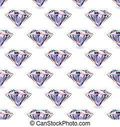 Diamond seamless repeat - Seamless tile background with...