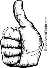 Thumbs up hand - Illustration of a hand giving a thumbs up...