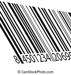 bar code vector illustration on a white