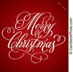 Christmas hand lettering (vector) - 'Merry Christmas' hand...