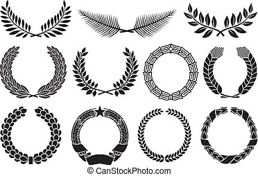 Wreath set (wreath collection, laurel wreath, oak wreath,...