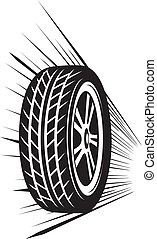 rueda, (vector, tyre)