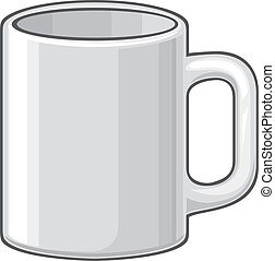 coffee mug (white cup)