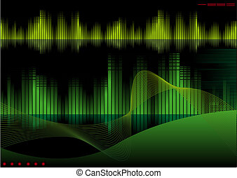 Tech - Abstract vector illustration of a high-tech...