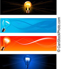 Technology Banners set - Collection of abstract technology...
