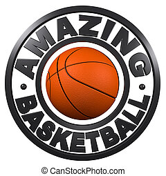 Amazing Basketball circular design with a white background