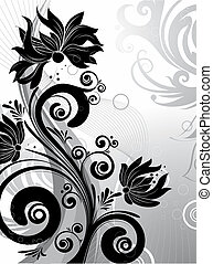 Floral abstraction - Abstract illustration. Suits well for...