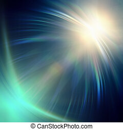 neon blue lights - abstract neon blue rays lights over dark...
