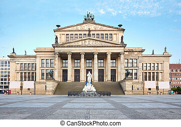 Concert hall, Berlin - Concert hall in Gendarmenmarkt one of...