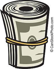 argent, rouleau