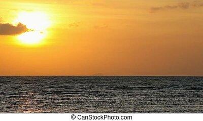 Ocean before sunset