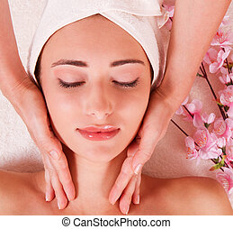 beatiful women relax in spa - young women in spa. Massage....