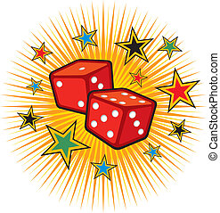 red dices design (gambling) - red dices design (gambling...