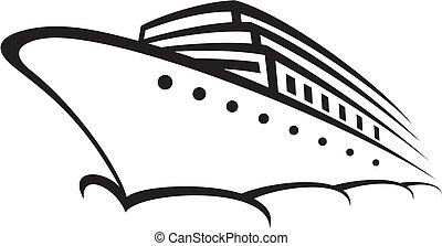 cruise ship ocean liner, modern liner, ship