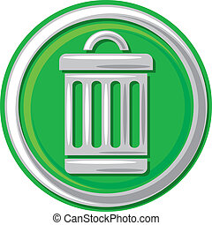 trash can icon (trash, trashcan button, trash can symbol)