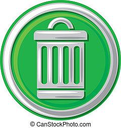 déchets ménagers, boîte, icône