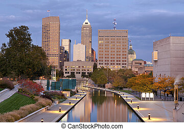 Indianapolis - Image of downtown Indianapolis, Indiana in...