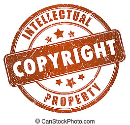 Copyright stamp isolated on white