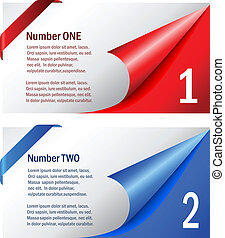 Option vector cards, choose one or two