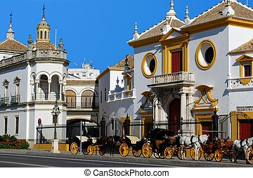 Bullring, Seville, Spain. - The Bullring (Plaza de toros de...