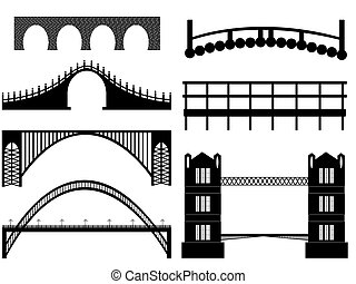 Bridge illustration on white background