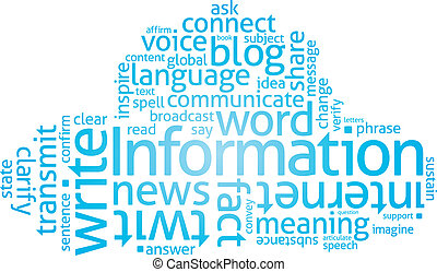 Information Cloud - Cloud of Words related to writing and...