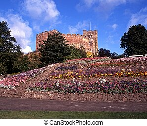 Castle and grounds, Tamworth, UK - Tamworth Castle and...