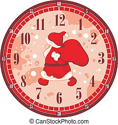 Christmas Clock Face - Isolated Christmas clock face...