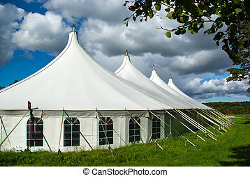 Large white party tent - Party events wedding celebration...
