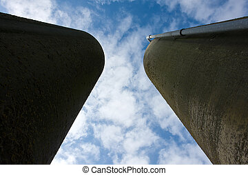 Agriculture farm grain silos