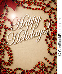 Vintage Happy Holiday Cards Cover