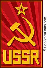 soviétique, affiche, (ussr)