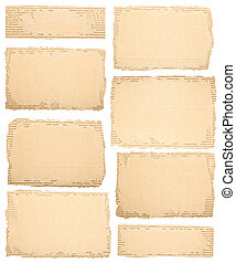 Collection of a cardboard pieces - Collection of a different...