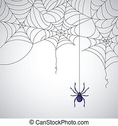Spider Web - illustration of spider web pattern on abstract...