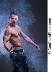 Fit muscular man
