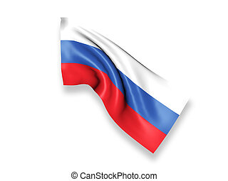 Waving Flag - 3D Generation of Russia Waving Flag