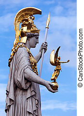 Athena statue - The Athena statue of the Athena Fountain...