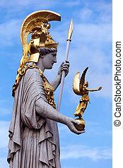 Athena statue - The Athena statue of the Athena Fountain...