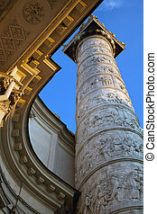 Karlskirche Church in Vienna - Ornament details of the...